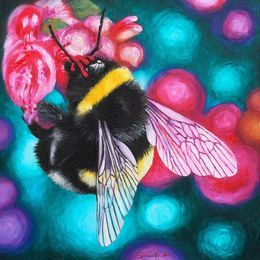 Bumble Bee Flower Nectar by simon-knott-fine-artist at zippi.co.uk