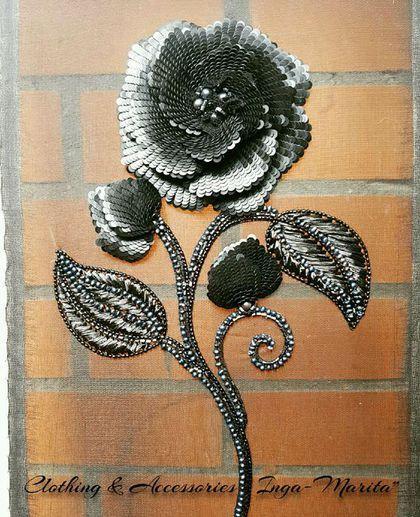 Купить или заказать Fleur de nuit ( ночной цветок) в интернет-магазине на Ярмарке Мастеров. Индивидуальность, стиль и роскошь, это то, к чему мы стремимся. Роскошная вышивка на Вашей одежде, это и есть Ваш неповторимый стиль! Цветок выполнен в технике старинной французской вышивки люневильским крючком, материалами лучших производителей Мира! Сделано с любовью!