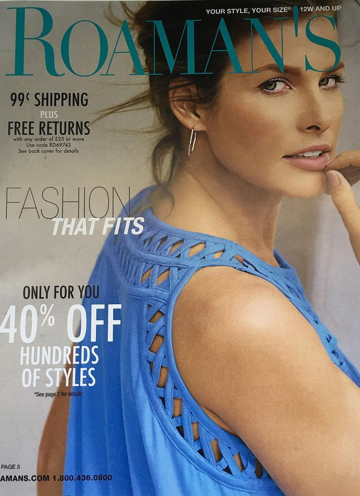 Free, Plus-Size Clothing Catalogs You Can Get in the Mail: Roaman's Plus Size Clothing Catalog