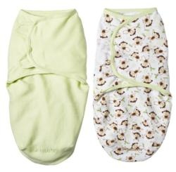 @Overstock.com.com - Help baby sleep safe and sound with these SwaddleMe blankets by Summer Infant. The blankets recreate the comforting snugness and security of the womb and features adjustable wings that grow with baby.http://www.overstock.com/Baby/Summer-Infant-Small-Monkey-Vine-Sage-SwaddleMe-Blankets-Pack-of-2/6527496/product.html?CID=214117 AED              112.90