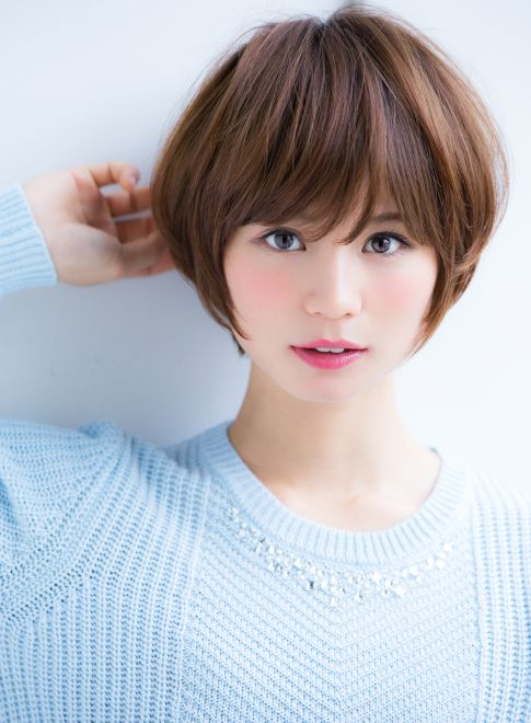 丸みのあるナチュラルショートスタイル 【Ramie】 http://beautynavi.woman.excite.co.jp/salon/27006?pint ≪ #shorthair #shortstyle #shorthairstyle #hairstyle・ショート・ヘアスタイル・髪形・髪型≫