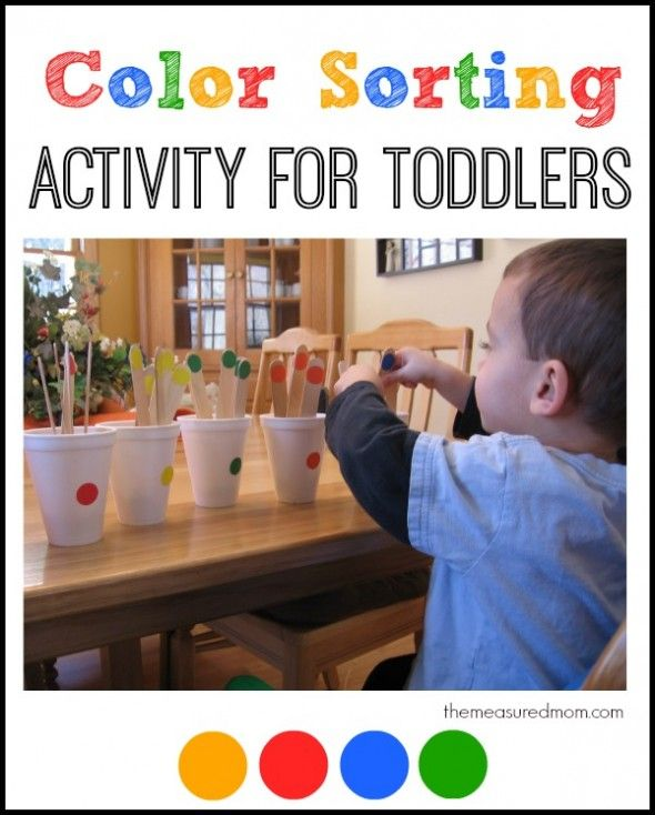 Simple color sorting activity for toddlers - my two year old loved this!