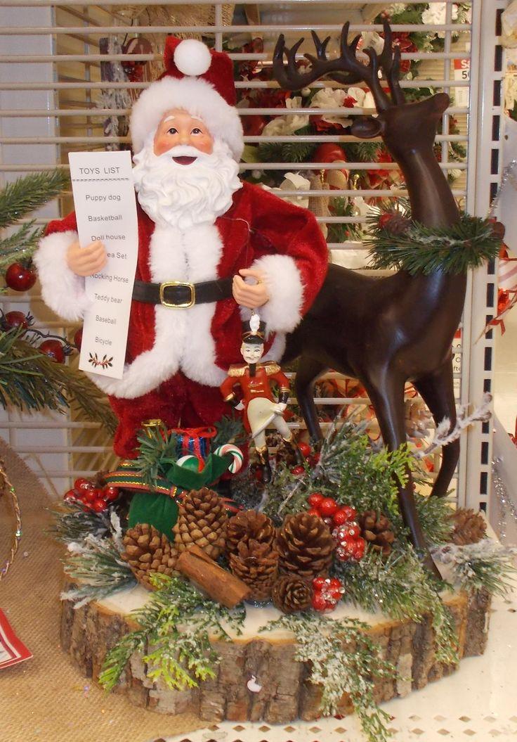 Santa with his reindeer sherrie 2015
