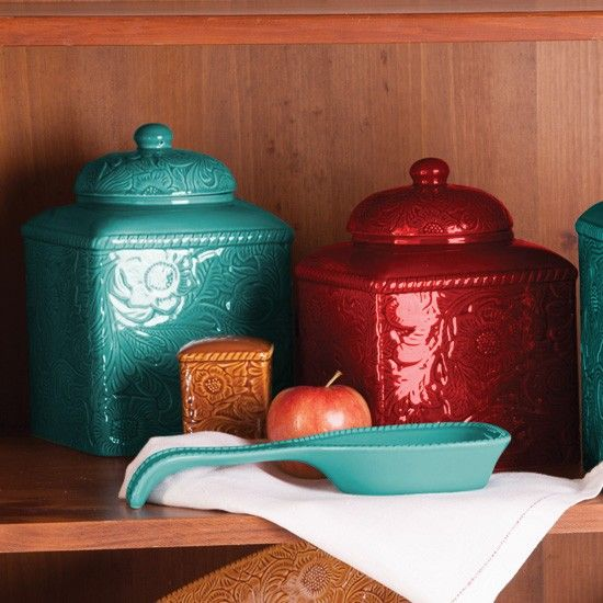 ... Savannah Turquoise Kitchen Canister Set By Western Elegance Canister Set  Home Sweet Home Pinterest ...