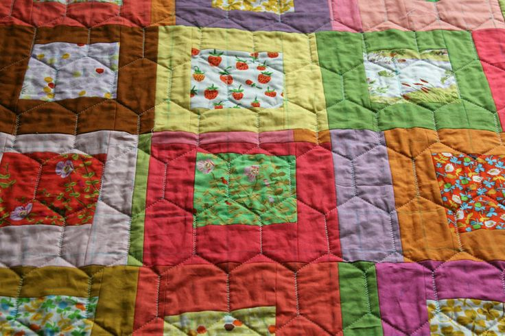 Elongated Hexagon/Honeycomb quilting – a tutorial - Film In The Fridge