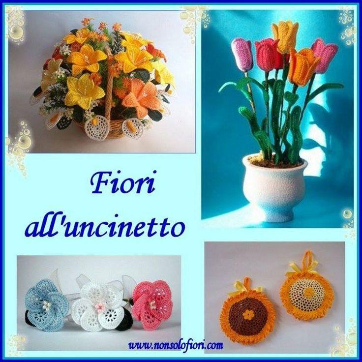Fiori all'uncinetto   Crochet flowers www.nonsolofiori.com