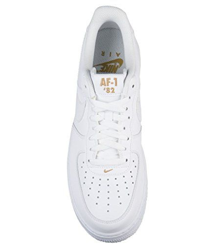 b16fa35d42fc0 NIKE Mens Air Force 1 Low 07 Crest Basketball Shoes White/Metallic Gold-102  Size 9.5$129.97