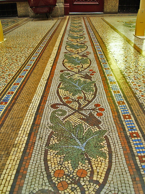 Mosaic Floor Detail by benrobertsabq, via Flickr  TattooMint via Detroit Funk onto Mosaics & Design