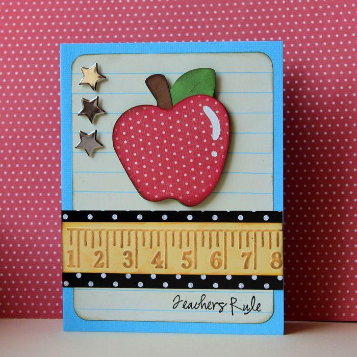 Pretty Paper, Pretty Ribbons: Fantabulous Cricut Challenge #59: Teacher Feature