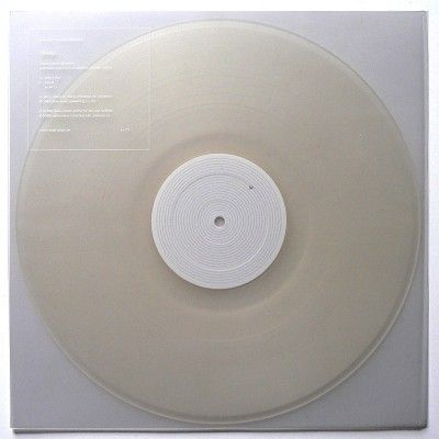Revep EP album cover . the transparent vinyl version of Alva Noto & Ryuichi Sakamoto's Revep EP.