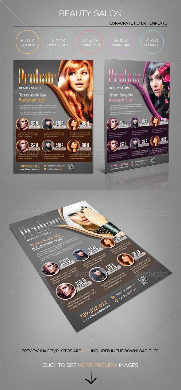 hair salon brochure templates - 124 best images about flyer on pinterest fonts flyer