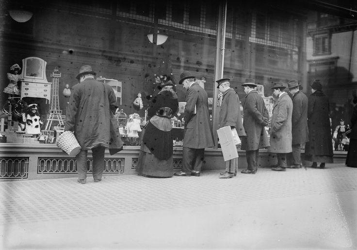 Праздничный шоппинг в Нью-Йорке, 1910