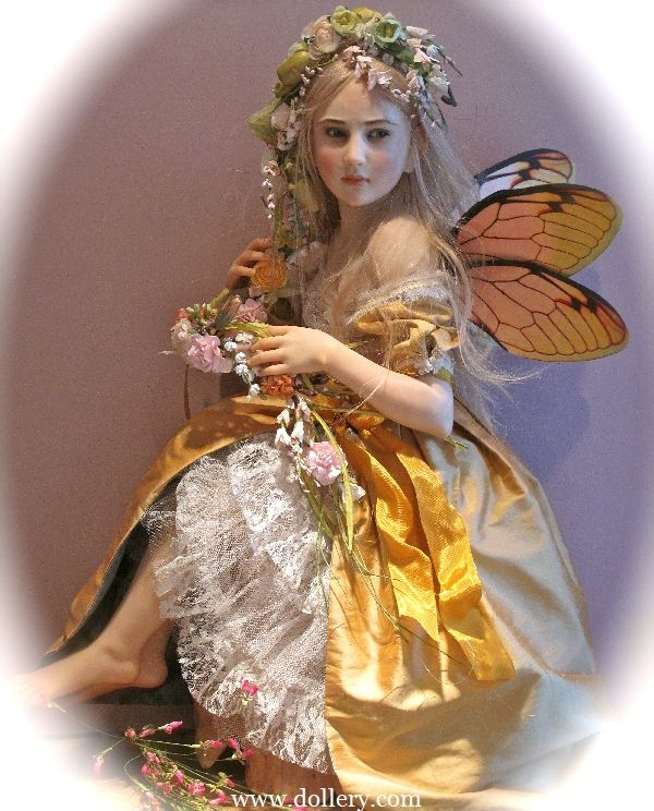 """*FAIRY ~ """" GATHERING FLOWERS FOR A GARLAND""""...Jamie Williamson One of a Kind Doll Artist"""