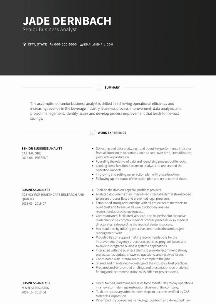 It Business Analyst Resume Awesome Senior Business Analyst Resume Samples And Templates
