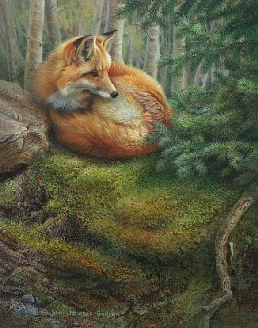 Fox painting by Joni Johnson-Godsy, IDK the title.