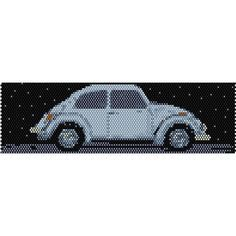VW Bug Vintage Car Peyote Bead Pattern, Bracelet Cuff, Bookmark, Seed Beading Pattern Miyuki Delica Size 11 Beads - PDF Instant Download by SmartArtsSupply on Etsy
