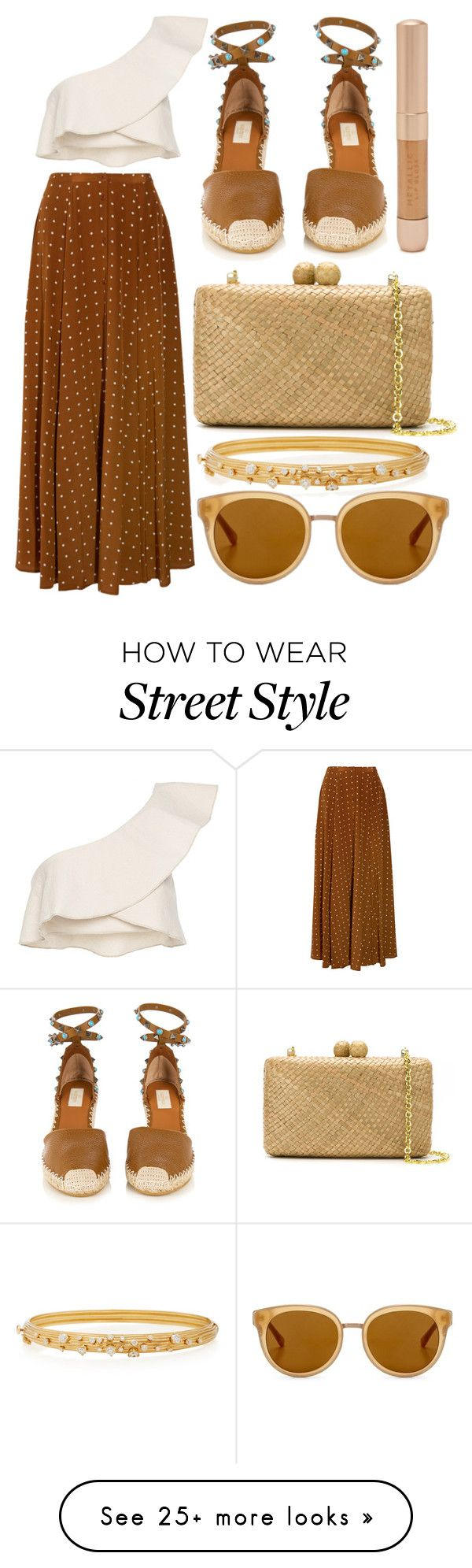 """street style"" by sisaez on Polyvore featuring Isabel Marant, Diane Von Furstenberg, Valentino, Forever 21, Serpui, Hueb and Draper James"