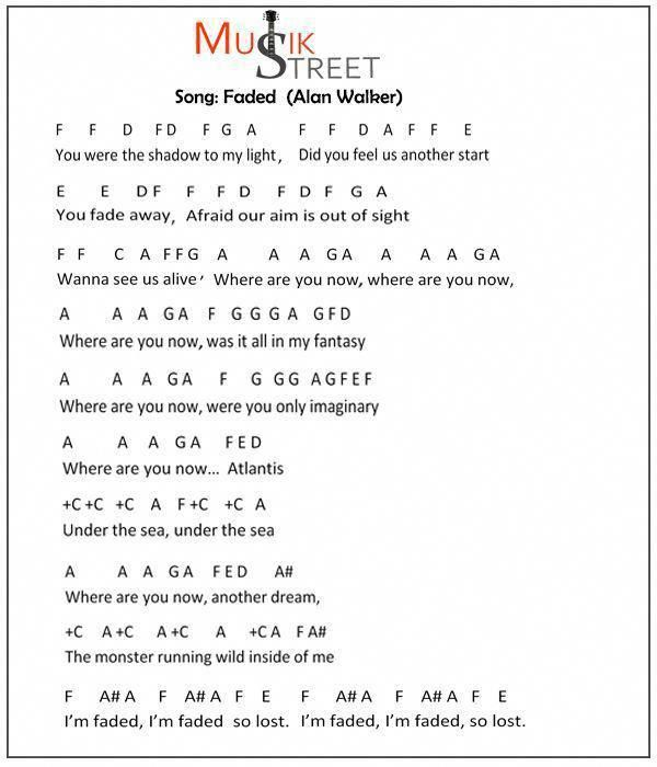 alan walker faded partitura piano pdf