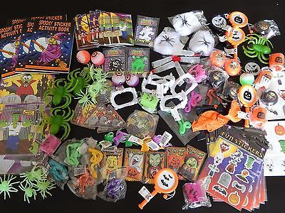 100 HALLOWEEN small Party Bag Fillers/Toys/Favours Lucky Dip Prizes Trick Treat