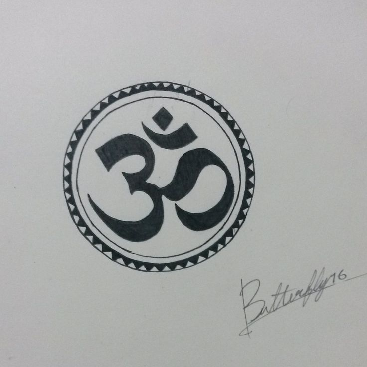 sketch Aum tattoo