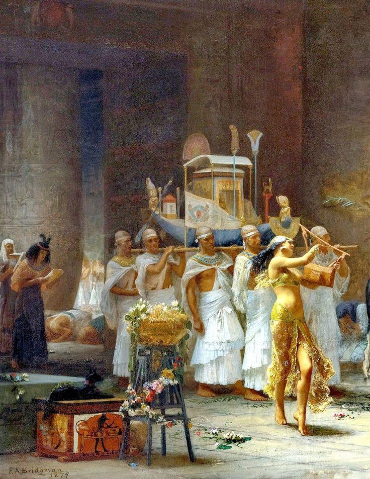 Egypt , Old Cairo Paintings: Frederick Arthur Bridgman - the procession of the bull apis 1879