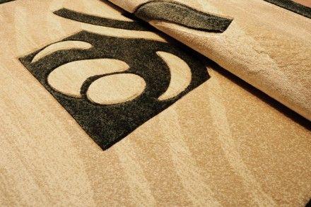 Dywan tradycyjny Środkowe fale zieleń. Dywan Heat Set ręcznie wycinany z klasycznym wzorem.