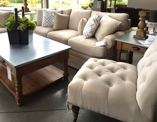 Sofa Chair And Zinc Top Tables From Magnolia Home By Joanna Gaines At Toms Price Furniture