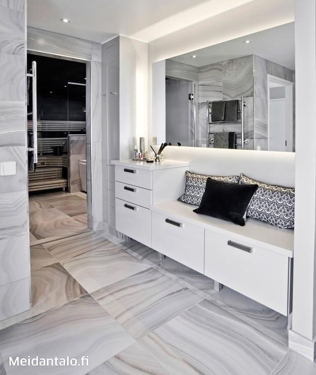 Kivitalo asuntomessuilla - pukuhuone | Meidän Talo