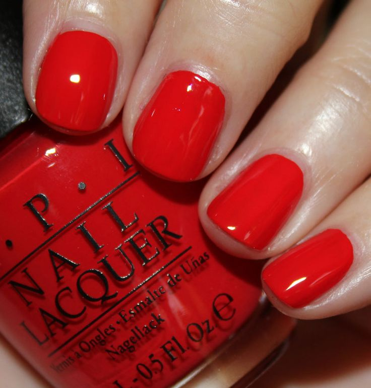 Red Nail Polish In Grout