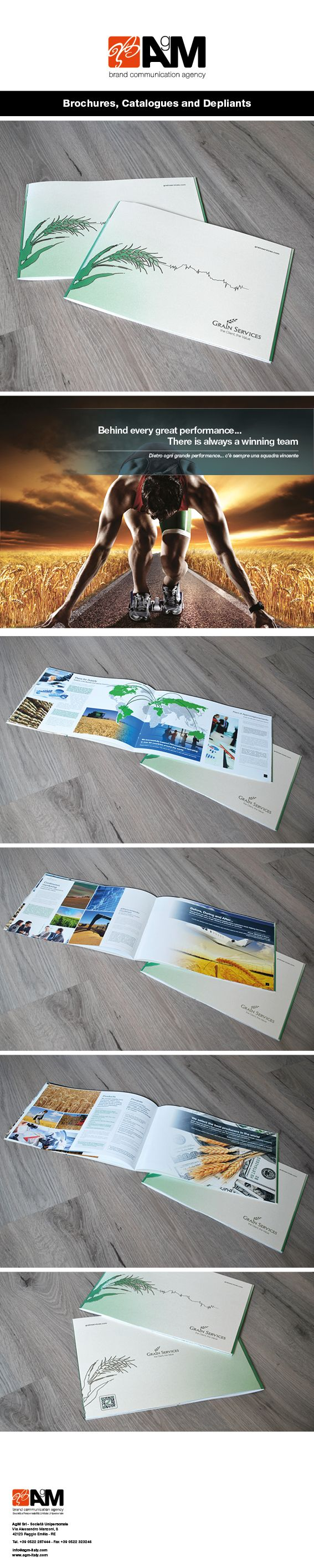 AgM Italy, Catalogues, Brochures, Depliants, Flyer, Italian Design.   Catalogo, Referenze, Aziendale, catalogo prodotti, brochure, flyer Italian Design.  #agm-italy, #italiandesign, #catalogues, #brochures #grainservices
