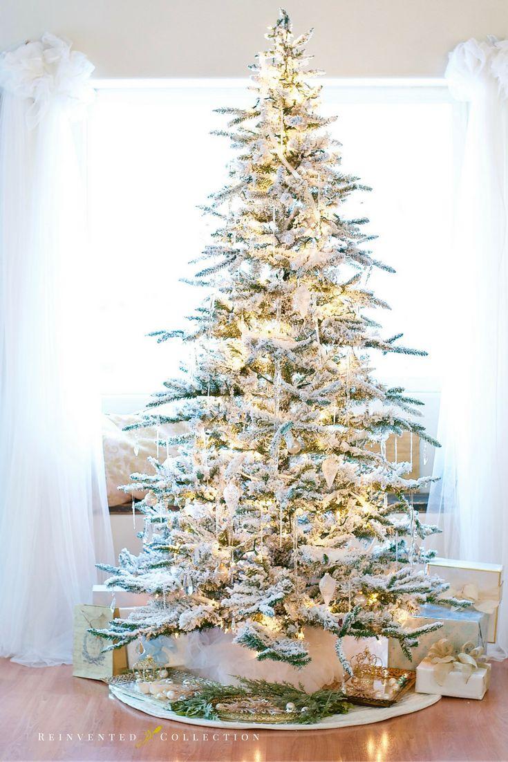 A Perfect Flocked Christmas Tree | Christmas | Pinterest | Christmas ...