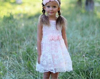 lace flower girl dress rustic flower dresslace von SweetValentina