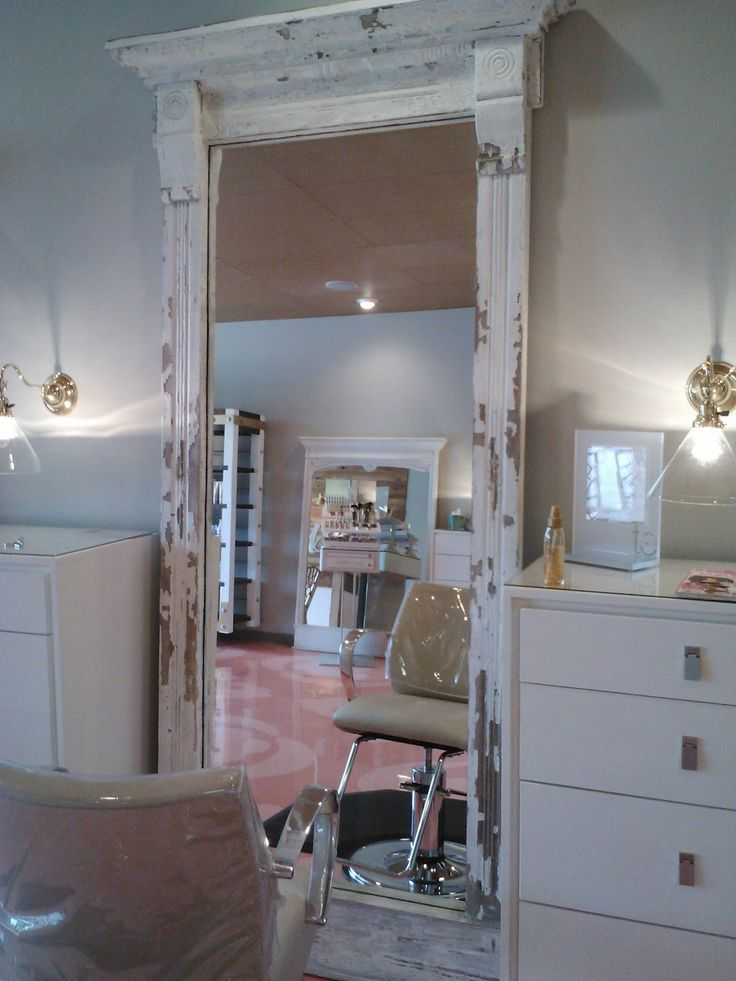 Tall mirror but in a steel blue at Ashley - for dining room