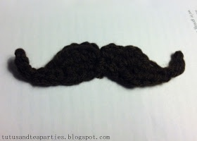 Tutus and Tea Parties: {Free Pattern} Crochet Mustache Applique