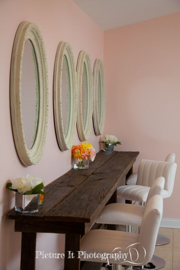 Makeup bar in bridal suite at Southern Springs events