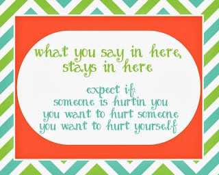 What you say in here, stays in here sign perfect for school counselor offices!