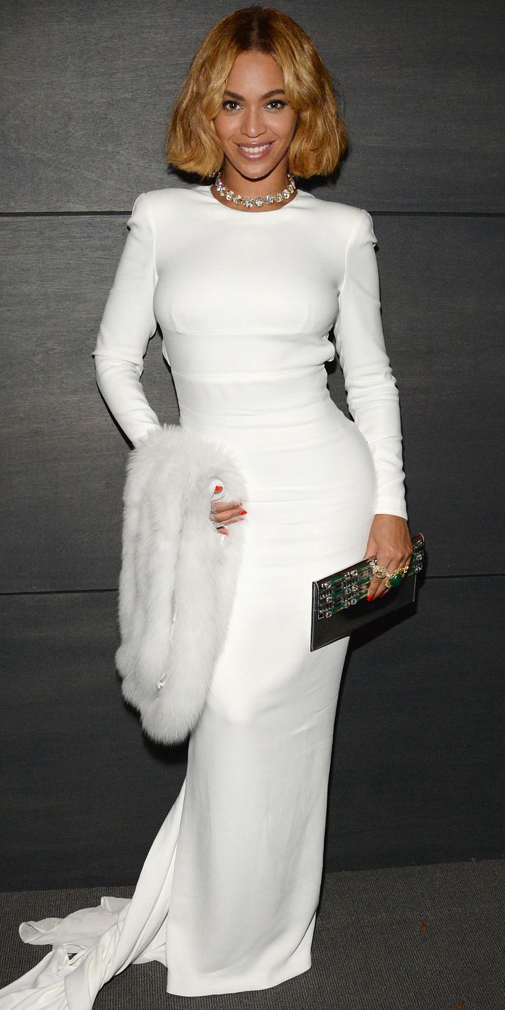 12 Times Beyonce Dressed Like an Actual Bride , 2015 Oscars Party from InStyle.com