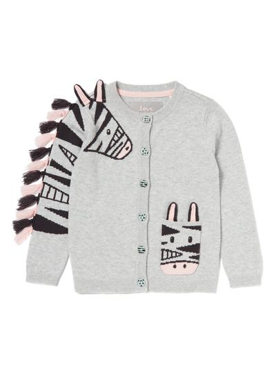 bf9e0a50f434 Grey Zebra Cardigan (9 months-6years) from Tu at Sainsbury s ! Your ...