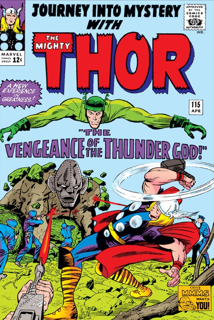 Journey Into Mystery 115 (1965) (Digital) Thor Defeat Absorbing Man By Tricking Him Into Absorbing helium gas..
