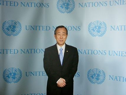 On my way to Africa met Mr Secretary-General of the United Nations!