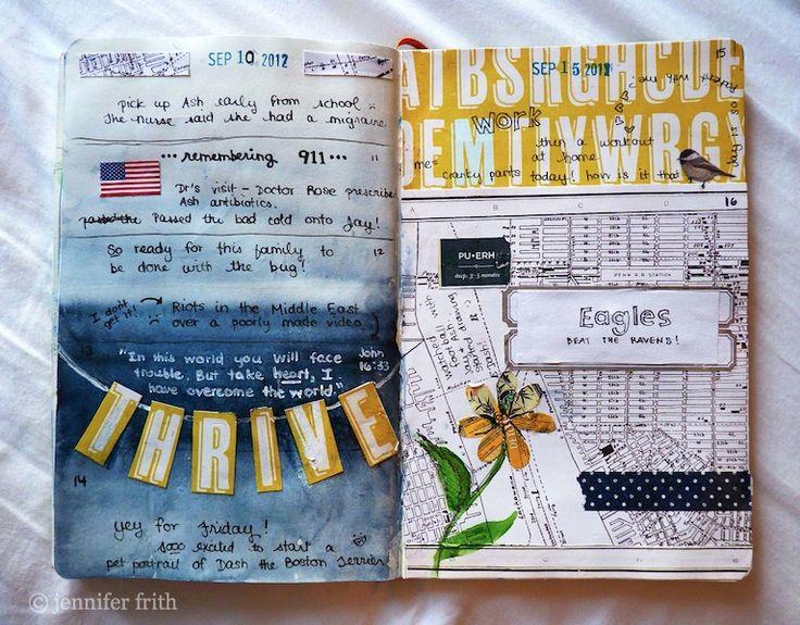 art journal, yellow & blue: Girls Guide, Artart Journalsketchbook, Journals Pages, Journals Ideas, Clueless Girls, Altered Books, Sketchbooks Journals, Art Art Journals Sketchbooks, Jenny Sketchbooks