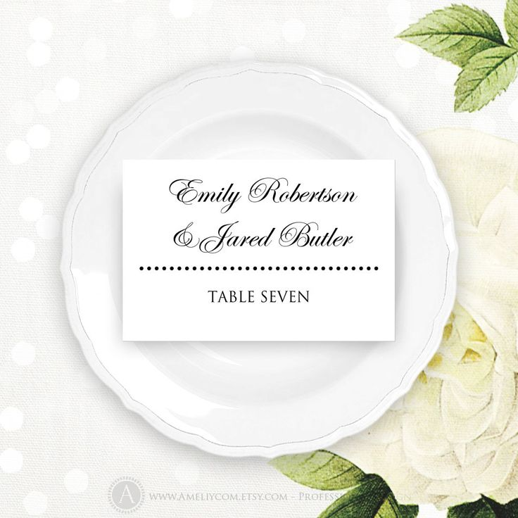 The 25+ best Printable wedding place cards ideas on Pinterest - place card template