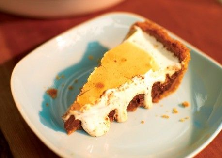 Chocolate S'mores Pie! I've made this many times. It's easy and ...