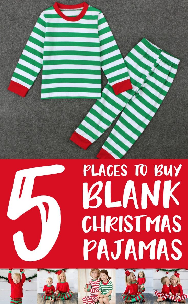 5 Places to Buy Blank Christmas Pajamas for Silhouette or Cricut Crafting http://cuttingforbusiness.com/2017/11/20/where-to-buy-blank-christmas-pajamas/