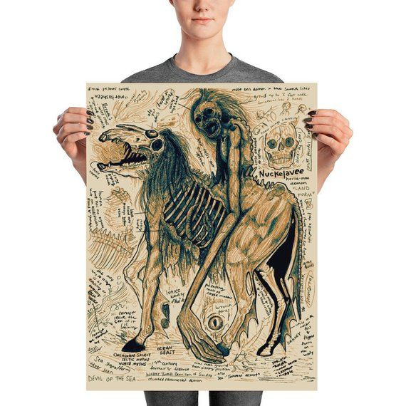 Nuckelavee Undead Mythological Demon Creature Bestiary Drawing Etsy In 2020 Mythology Bestiary Undead