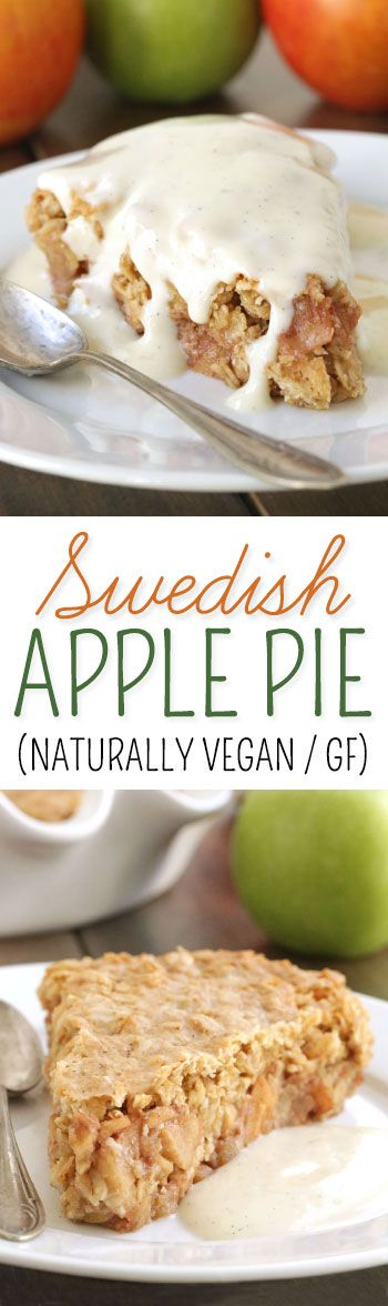 Quick and Easy Swedish Apple Pie {naturally gluten-free, 100% whole grain with a vegan / dairy-free option}