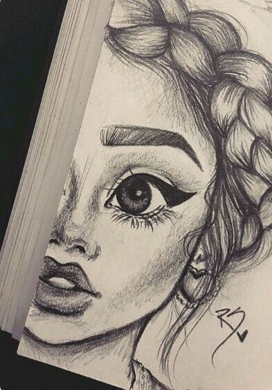 girly drawings drawing sketches pencil paintings sketch