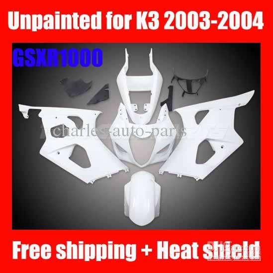 Unpainted for SUZUKI GSXR1000 Fairing Kit $289 FREE Shipping!