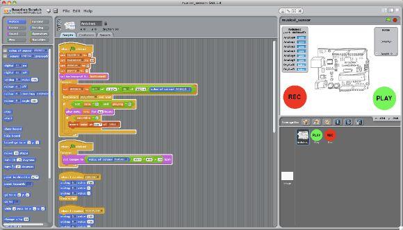 S4A Programar placas arduino dende scratch.