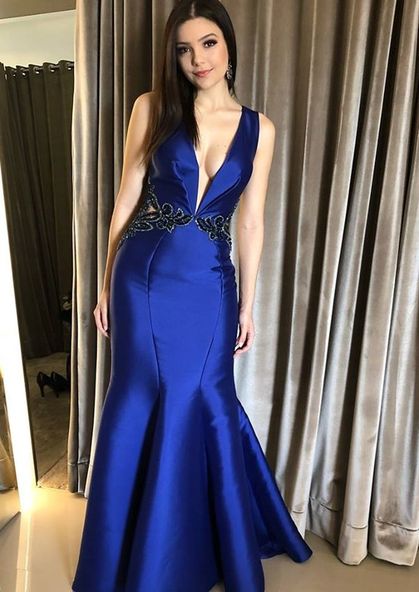 288463d158 vestido de formatura azul